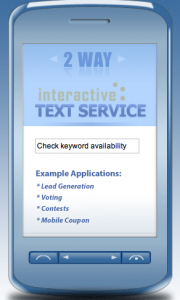 Text messaging on a mobile phone