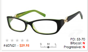 Stylish glasses frames can still be classic with just touch of extra color.