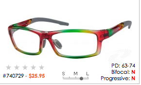 """multicolored eyeglass frames say """"I'm a creative person. I love to have fun!"""""""