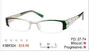 serious, subtle, creatively styled eyeglasses